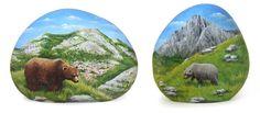 Sassi dipinti - orsi abruzzesi | L'arte di Roberto Rizzo
