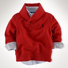 fleece shawl pullover