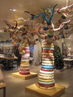 Trees............. #Textiles #Upcycle #Recycle #DIY #GreenLiving #Handmade #DIY #Craft #Reuse #Repurpose #Art #Sculpture #Trees Fabric Tree, Baobab Tree, Yarn Bombing, Tree Sculpture, Light Installation, Outdoor Art, Art Classroom, Land Art, Textile Art