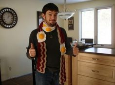 eggs and bacon scarf...so useful!