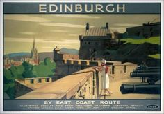 edinburgh vintage travel | Edinburgh Castle Vintage Railway Travel Poster Print | eBay