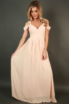 Napa Valley Outing Maxi Dress in Champagne