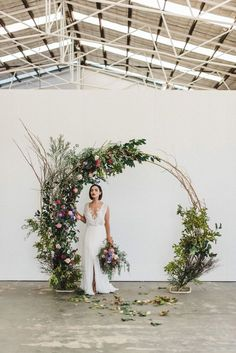 Floral circle arch wedding backdrop - would be lovely at the barn as a ceremony backdrop 💕 boho wedding dress/wedding quizes/wedding/rustic wedding/outdoor wedding dress/ Wedding Bows, Wedding Bride, Our Wedding, Arch Wedding, Trendy Wedding, Backdrop Wedding, Fall Wedding, Wedding Church, Decor Wedding