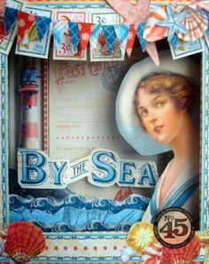 G45 By the Sea altered staples matchbox - Nichola Battilana