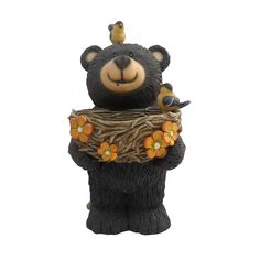 """We offer the items your looking for like 15"""" Tall Bear Statue with Bird Feeder"""