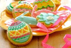Need an Easter sweets recipe? Try this iced easter cookies recipe for a delicious baked treat today. Stork – love to bake. Easter Cookie Recipes, Easter Cookies, Easter Treats, Easter Desserts, Iced Cookies, Cute Cookies, Sweets Recipes, Baking Recipes, Stork Recipes