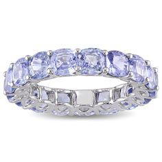 Miadora 14k White Gold Sapphire Eternity Ring