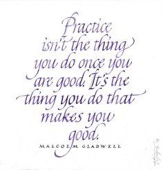 practice isn't the t
