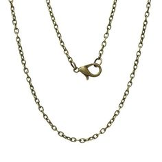 Cheap chain necklace designs, Buy Quality chain silver necklace directly from China chain roller Suppliers: Jewelry Necklace Antique Bronze Cable Chains Lobster Clasp Pcs Bronze, Collier Antique, Antique Necklace, Metal Chain, Jewelry Accessories, Jewelry Necklaces, Fashion Jewelry, Pendant Necklace