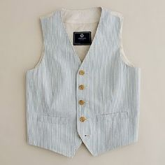 Boys vest tutorial--- using whatever size shirt you have on hand for the pattern. She uses an old dress shirt to make the vest, too. So smart!