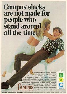 Campus Slacks ad from Playboy, 1967