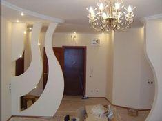 Перегородка из гипсокартона House Ceiling Design, Tv Wall Design, House Design, Pop Design, Living Room Partition Design, Room Partition Designs, Decoration Hall, Plafond Design, Modern Home Interior Design