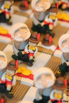Boîtes à dragées Gepetto et Pinocchio