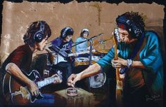 Rolling stones painting by ron wood