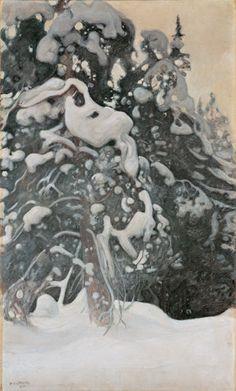 pine tree in winter // pekka halonen