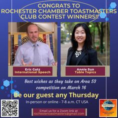 A Sunday Salute to Rochester Chamber Toastmasters club speaking contest winners! #d6tm #rochmn #rochestercvb #rochester_mn #minnesotas_rochester #rochmnchamber #becauserochester #dmcmn Friday Funnies, Good Humor, Competition, Presentation, Sunday, Club, Domingo