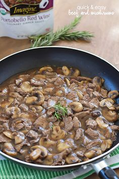 Quick & Easy Beef and Mushrooms