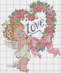 cross stitch; I would never stitch this but it sure is cute to look at!
