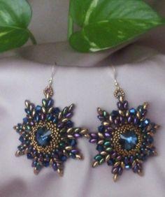 Orecchini Blue Sun, by Perline e Bijoux, 25,00  su misshobby.com