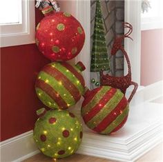 large outdoor christmas ball ornaments for outdoor tree raz imports sa lighted christmas decoration