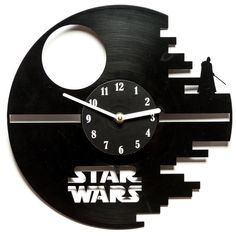 Vinyl clock star wars  Unique Record wall por secondlifeforvinyl