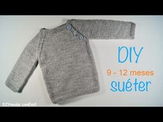 Suéter o Jersey de bebé tejido a dos agujas paso a paso - YouTube Baby Knitting Patterns, Knitting For Kids, Knitting Designs, Granny Stripes, Crochet Baby, Knit Crochet, Baby Girl Cardigans, Knit Leg Warmers, Knitting Videos