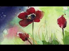 Watercolor Poppies, Abstract Watercolor, Watercolor Paintings, Painting Abstract, Ranger Ink, Community Art, Art Teachers, My Arts, Replay