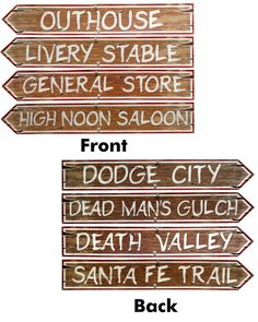 These are a cute DIY idea for a western party!! You could make these on a piece of old wood!! ADORABLE!!