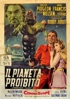 Forbidden Planet (1956) - Italian Movie Poster
