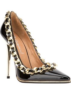 JEFFREY CAMPBELL chain stilettos #fashion #heels #shoes  For luxury custom made shoes visit www.just-ene.com