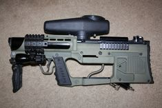 Modified Tippman A5 paintball marker