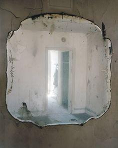 byJeffrey Stockbridge Old Mirrors, Vintage Mirrors, Mirror Mirror, French Mirror, Through The Looking Glass, Wabi Sabi, Abandoned, Shabby Chic, Lights