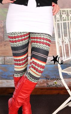 Fleece lined print leggings!! $10.99