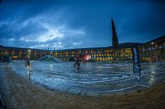 Citycross at the Piece Hall.  Night view.