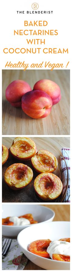 The recipe is available here http://theblenderist.com/baked-nectarine-vegan/ . This is the perfect, late-summer, low-sugar dessert. Healthy enough to eat for breakfast.