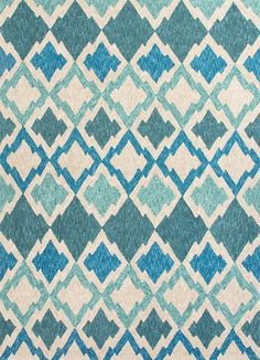 These Catalina rugs will add a pop to any outdoor space with its rich inspiration from Moroccan trellis and tile patterns. - Color: Blue/Ivory - Material: 100% Polyester - Shipping: Ships within 5-7 d