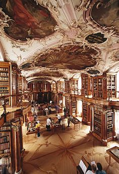 Abbey Library in St. Gallen, Switzerland - Yes, this will be going in the East wing, just with a brighter and prettier ceiling painting :D