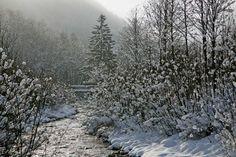 Winter an der Enns in Flachau #visitflachau #enns #winterwonderland