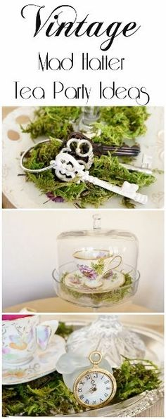 Mad Hatter Tea Party Ideas - DIY Inspired -Budget Vintage Mad Hatter Tea Party Ideas - DIY Inspired - ideas wedding vintage theme centerpiece tea parties for 2019 - - Alice in Wonderland Party Games, Activities & Mad Hatter Party, Mad Hatter Tea, Mad Hatter Wedding, Ideas Vintage, Vintage Tea, Vintage Party, Wedding Vintage, Whimsical Wedding, Alice In Wonderland Birthday