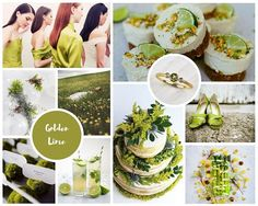 Golden Lime Wedding Inspiration board by @marthatobyn