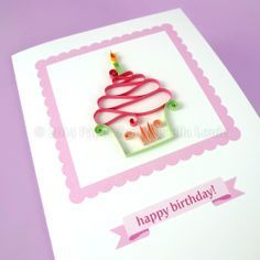 Quilling Cupcakes - PDF Pattern / Tutorial. There is an unusual way this creamy icing is made.