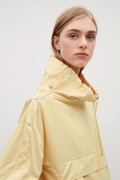 COS image 2 of Funnel neck anorak in Yellow