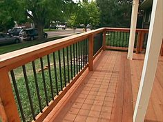 Deck railing isn't just a safety feature. It can add a sensational aesthetic to mount a decked location or deck. These 36 deck railing ideas show you exactly how it's done! Metal Deck Railing, Deck Railing Design, Timber Deck, Deck Design, Home Design, Railing Ideas, Patio Railing, Iron Railings, Design Ideas