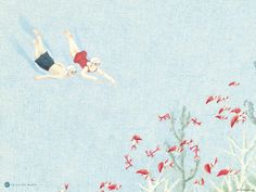 Detail of an illustration from the children's book Pool   Ages 2-5   { 1000 Books Before Kindergarten