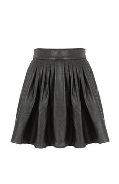 The Musthaves Circle Leather Skirt Black online kopen