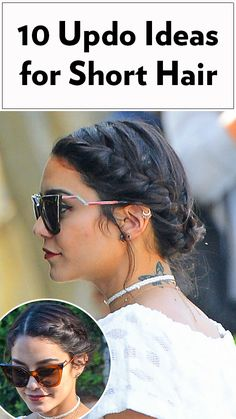 Yes, you can wear an updo hairstyle with short hair! Click ahead for celebrity updo inspiration from Vanessa Hudgens, Jennifer Lawrence, Lucy Hale and more