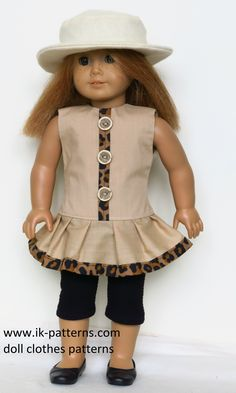 Dress, leggins and hat for American Girl doll (patterns)