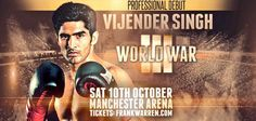 Vijender Singh India's renowned boxer will enter into Pro Boxing with his 1st fight againstSonny Whiting on 10 October in Manchester Arena, England. This is the most awaited fight for Vijender and whole India as Vijender is 3rd Pro boxer of India after Gurcharan Singh and Dharmender Yadav. Both two previous Pro Boxers of India didn't get much success. WatchFirst Pro Fight of Vijender Singh vs Sonny Whiting Live here. Vijender Singh VS Sonny W