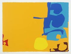 Patrick Heron, Blues Dovetailed in Yellow