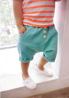 Mint Shorts for unisex kids fashion at colormewhimsy 3
